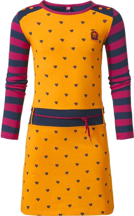 d15292b12e50dc bol.com | Chaos and Order Meisjes jurk meisje oranje - Maat 122/128