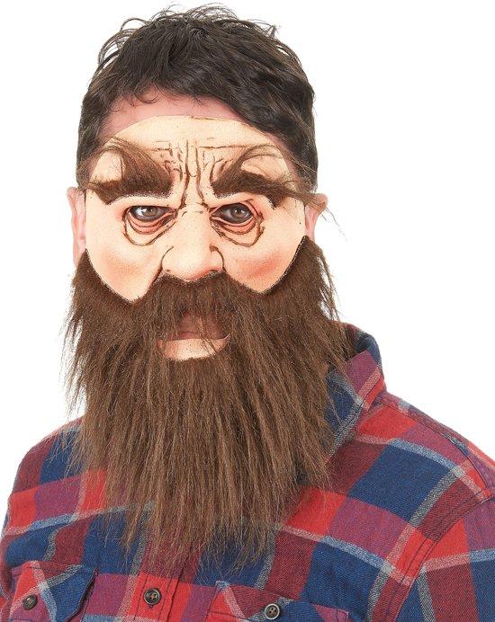 Man met baard masker voor volwassenen - Verkleedmasker