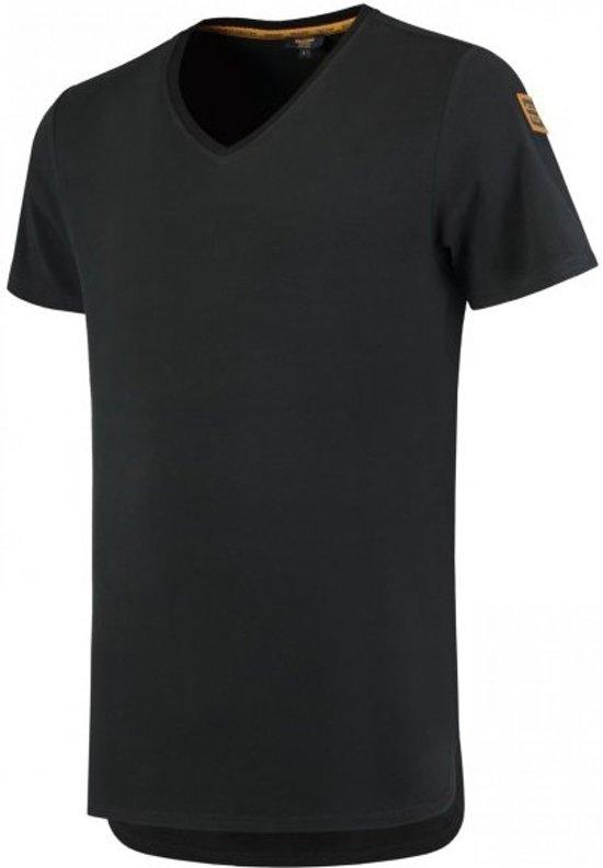 Tricorp 104003 T-Shirt Premium V Hals Heren Zwart maat L