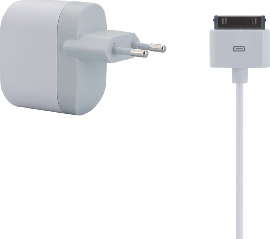 Belkin Thuislader met Losse Apple 30-pins naar USB Kabel - 0.9m - 1A - Wit