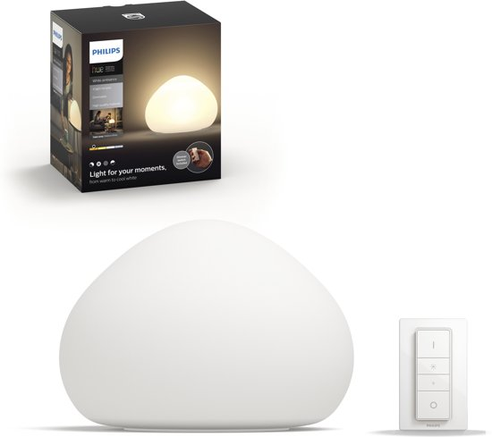 Philips Hue Wellner Tafellamp - warm tot koelwit licht - wit