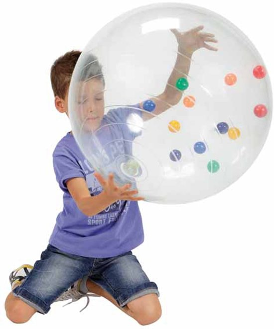 Gymnic Activity Ball - Gevuld met gekleurde balletjes - Transparant - Ø 50 cm