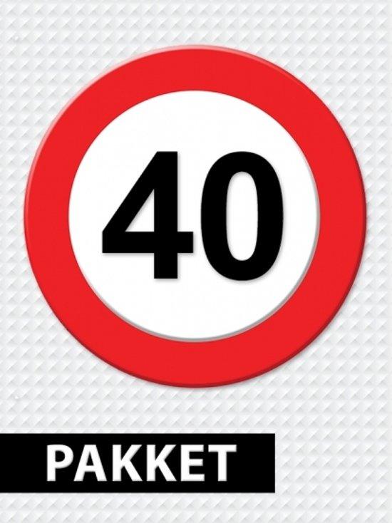 Populair bol.com | Verkeersbord 40 jaar feestartikelen pakket, Fun & Feest @UH43