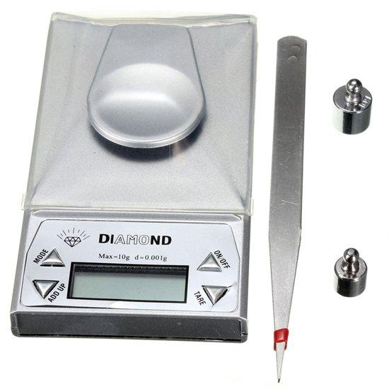 Digitale ULTRA Pocket Juwelen & Keuken Precisie Weegschaal 0,01 tot 10 Gram