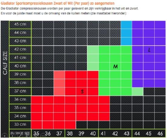 Gladiator Running - Compressiekousen voor hardlopen ( Zwart of Wit) (Per paar)