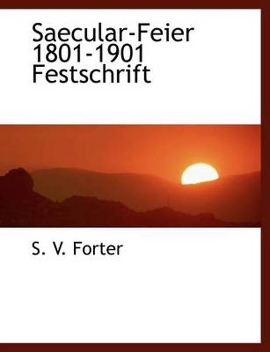 Saecular-Feier 1801-1901 Festschrift