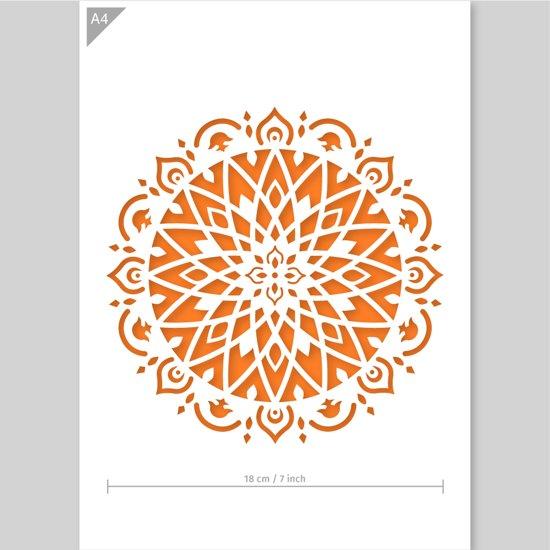 Mandala Sjabloon Kunststof A4 Stencil Kindvriendelijk Sjabloon