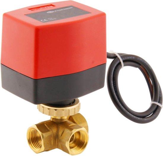 Elektrische Kogelkraan BW3 1/2'' 3-weg 230V AC relais