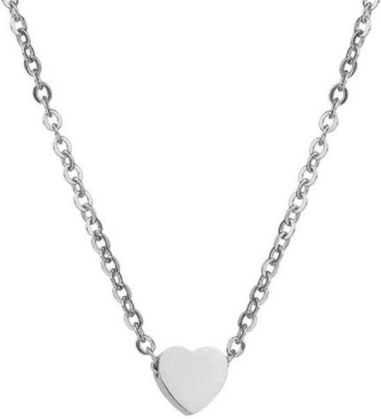 zilveren ketting dames met hartje