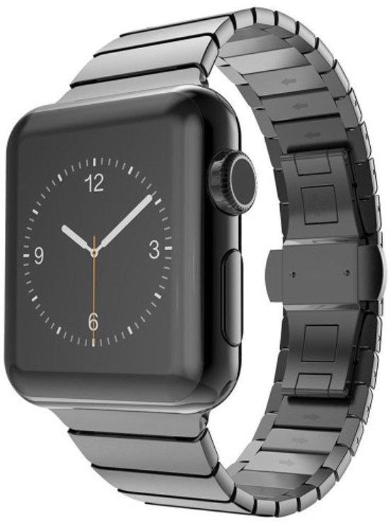 Band Series Stainless Steel Butterfly Bandje voor Apple Watch Series 1 / 2 / 3 (42mm) - Zwart