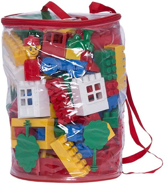 Verwonderend bol.com | Bouwstenen speelgoed set big in rugzak - Midi blokken PY-14