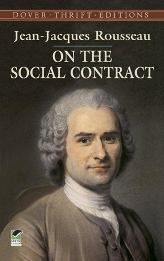 Boek cover On the Social Contract van J. Locke (Onbekend)