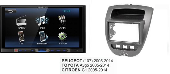 autoradio Peugeot (107) 2005 - 2014  kenwood met bluetooth / usb aux