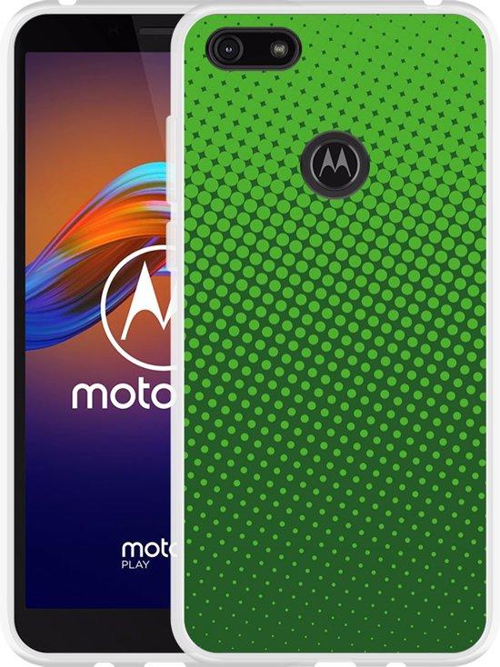 Motorola Moto E6 Play Hoesje groene cirkels