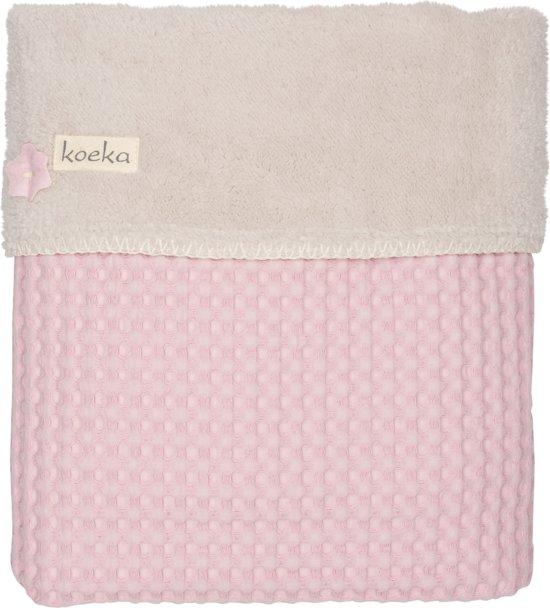 Koeka - Ledikantdeken wafel/teddy Oslo - Old Baby Pink/Pebble