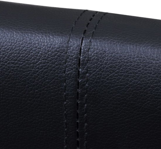 vidaXL Bedframe kunstleer zwart 180x200 cm