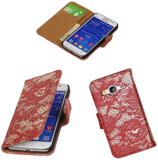 MP Case Rood bloem Samsung Galaxy Grand Neo wallet book case in Bütgenbach/Butgenbach