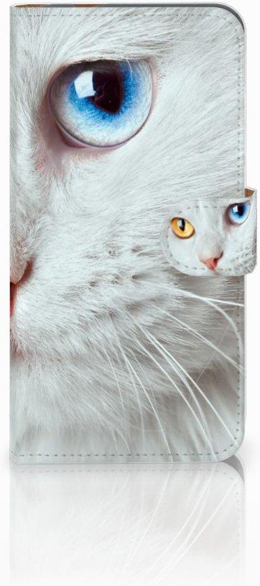 Exclusief Cover voor de Huawei Nova Plus met Witte Kat design in Hankate