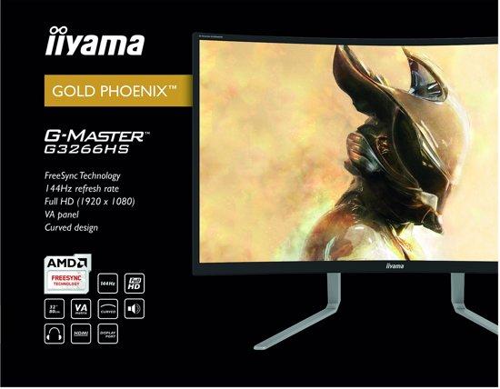 Iiyama G-Master G3266HS-B1 - Curved Gaming Monitor
