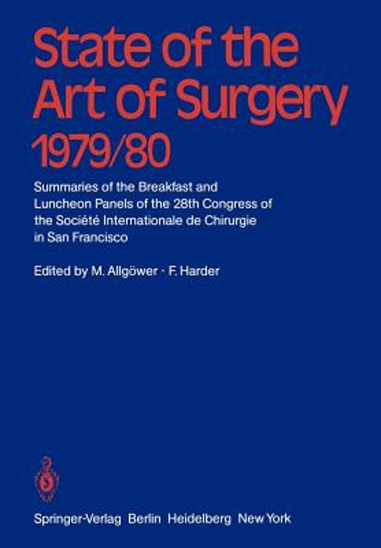 State of the Art of Surgery 1979/80