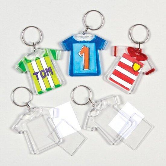 Ontwerp een T-shirt-sleutelhanger  (6 stuks per verpakking)