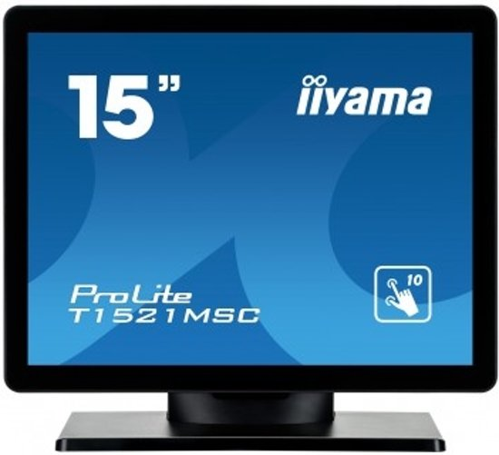 iiyama ProLite T1521MSC-B1 15'' 1024 x 768Pixels Multi-touch Tafelblad Zwart touch screen-monitor