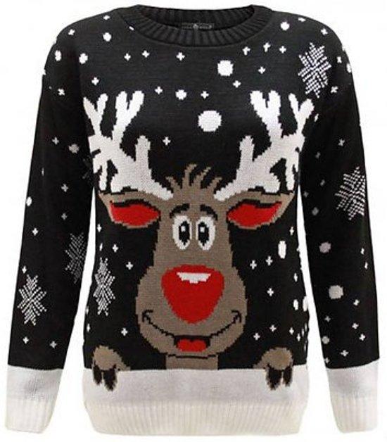 Kersttrui Maat M.Bol Com Foute Kersttrui Zwart Rendier Maat M L Tibri