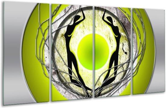 Glasschilderij Modern | Groen, Grijs, Zwart | 160x80cm 4Luik | Foto print op Glas |  F004897