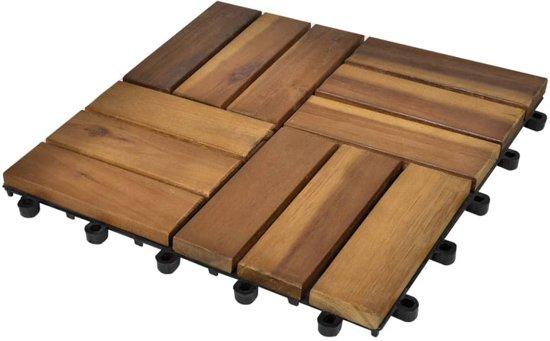 Houten Balkon Tegels : Bol vidaxl terrastegels acaciahout cm stuks