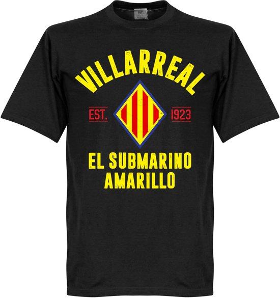 Villarreal Established T-Shirt - Zwart - XL