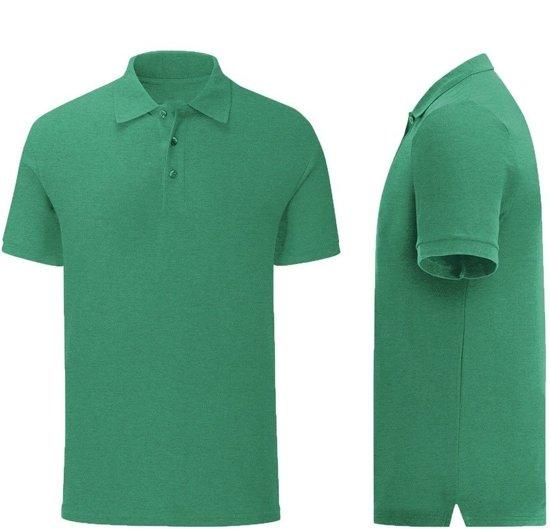 Senvi - Fit Polo - Getailleerd - Maat M - Kleur Groen Melee - (Zacht aanvoelend)