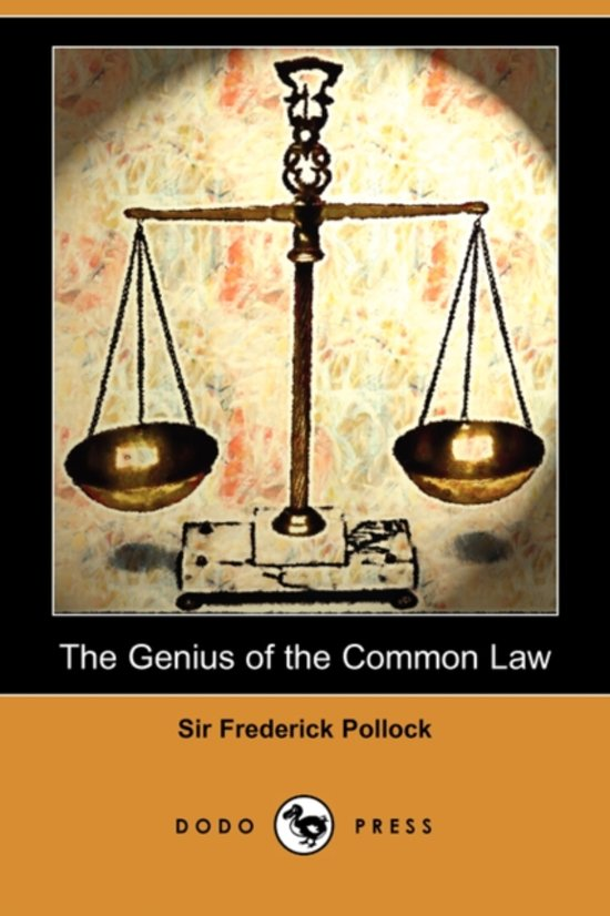 The Genius of the Common Law (Dodo Press)