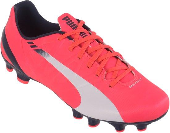 Puma EvoSPEED 4.3 FG  Voetbalschoenen - Maat 44.5 - Mannen - roze/blauw/wit