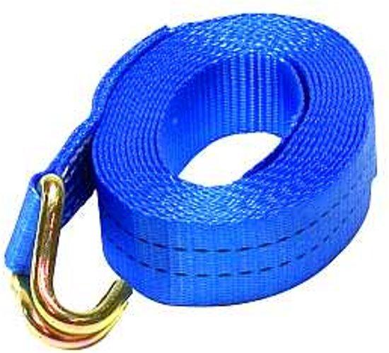 Spanband 35mm blauw 5M+haken 2000 kg