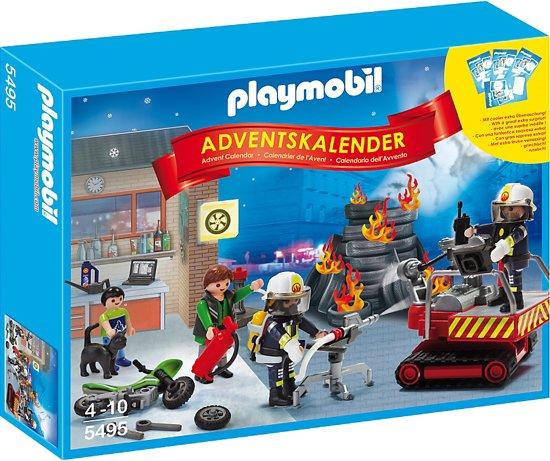 Playmobil Weihnachtskalender.Playmobil 5495 Adventskalender Brandweer Met Kaartspel