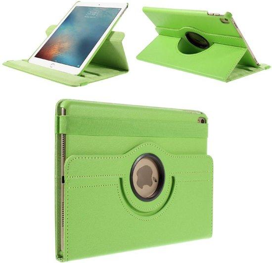 iPad Pro 9.7 hoes 360 graden roteerbaar Litchi Leder groen