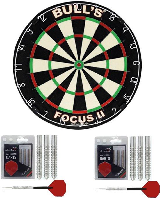 Bulls Complete dartset inclusief dartbord met 2 sets dartpijlen - dartbord - dartpijlen