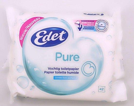 Edet Vochtig Toiletpapier.Edet Pure Vochtig Toiletpapier 42 Stuks