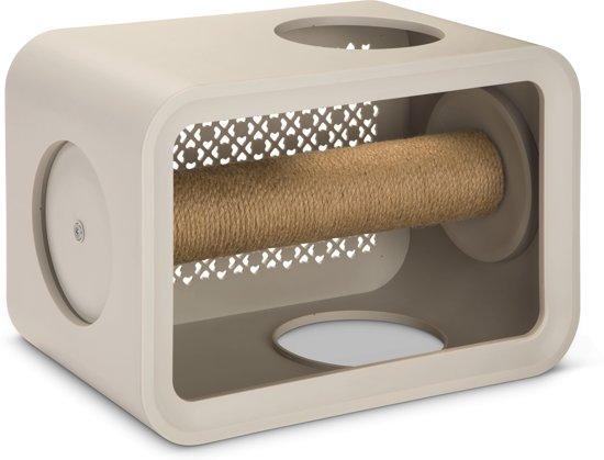 Beeztees Cat Cube Scratch Krabpaal - 49 x 29 x 32.6 cm - Grijs