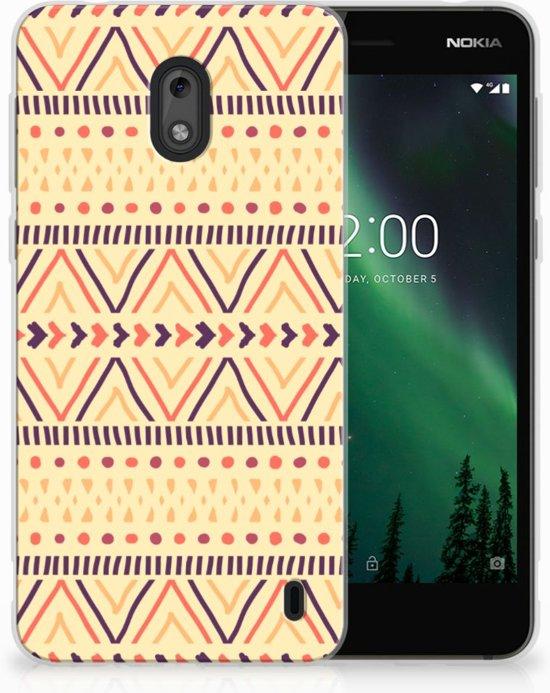 Nokia 2 Uniek TPU Hoesje Aztec Yellow