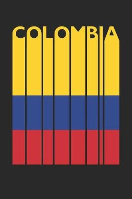 Vintage Colombia Notebook - Retro Colombia Planner - Colombian Flag Diary - Colombia Travel Journal