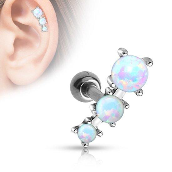 Helix piercing triple opal ©LMPiercings