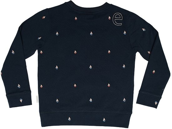 74e5acb18e9 Ebbe - jongens sweater - model Znow college mini boats - navy blauw - Maat  98