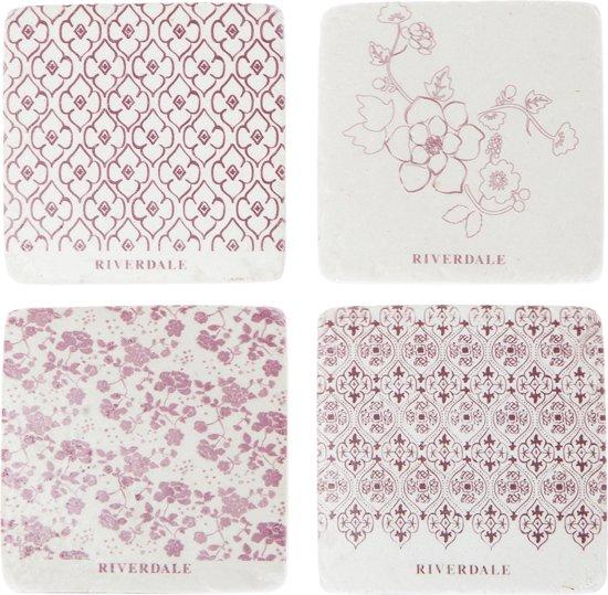 Riverdale Nature - Onderzetters - 10cm - burgundy
