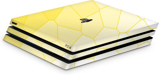Playstation 4 Pro Console Skin Cell Geel