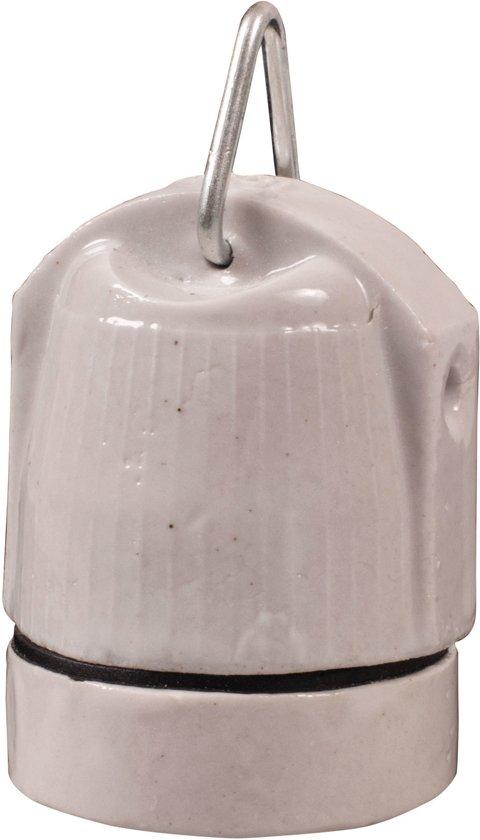 Keramische fitting (E27) met ophanghaakje