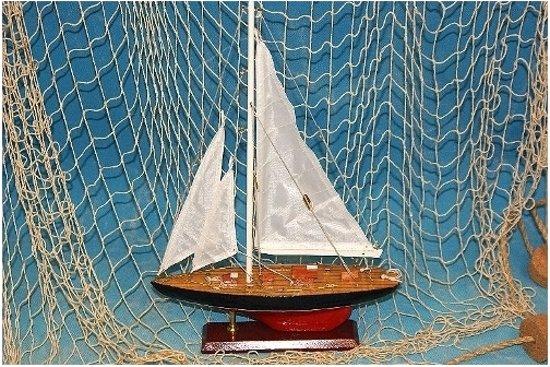 decoratie zeilboot 37 cm model schip