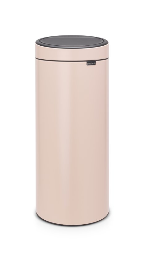 Brabantia Touch Bin 30 Liter Wit.Brabantia Touch Bin New Prullenbak 30 L Clay Pink