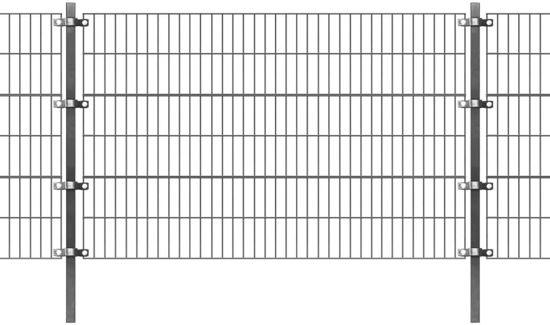 vidaXL Omheiningspaneel met palen 6x1,2 m antraciet