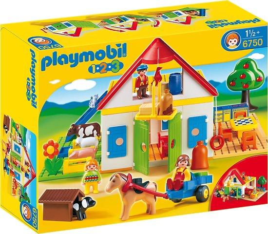 playmobil 123 grote boerderij 6750. Black Bedroom Furniture Sets. Home Design Ideas